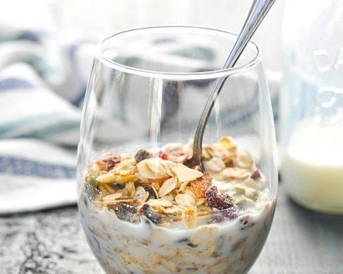 Muesli A Simple Healthy Breakfast Menu.