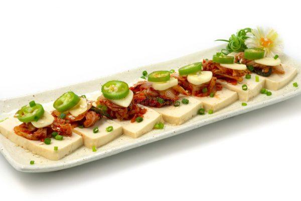Tofu with Spring Onion Kimchi